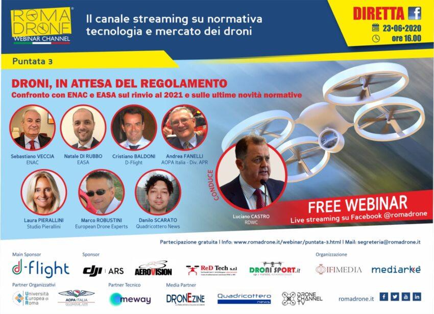 Nasce Roma Drone Webinar Channel, canale in live streaming dedicato alla drone community italiana